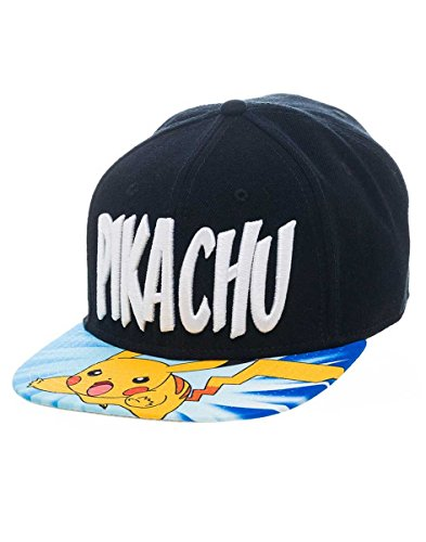 (Pokemon fedsb2h6gpok–Pikachu Logo mit Charakter Bill Snapback Cap One Size)