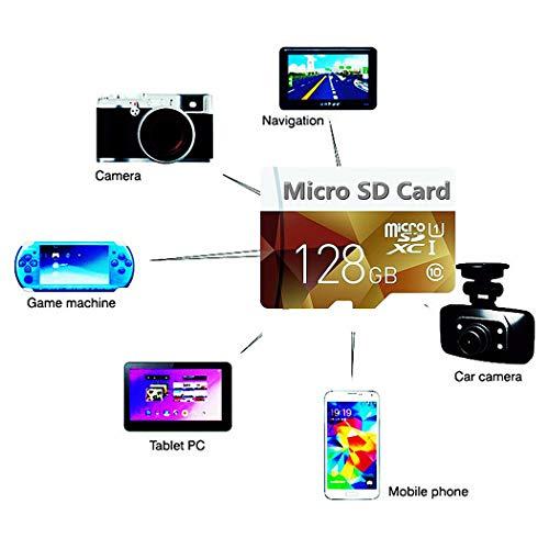 Lare nzon Micro SD Tarjeta 128GB, microSDXC 128GB Class 10Tarjeta de Memoria + Adaptador SD (F50de HQ)