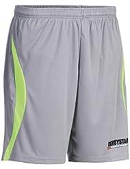 Derbystar Aponi–Pantalones de portero para niños, todo el año, infantil, color Gris - Grau/Limegreen, tamaño 6 años (116 cm)