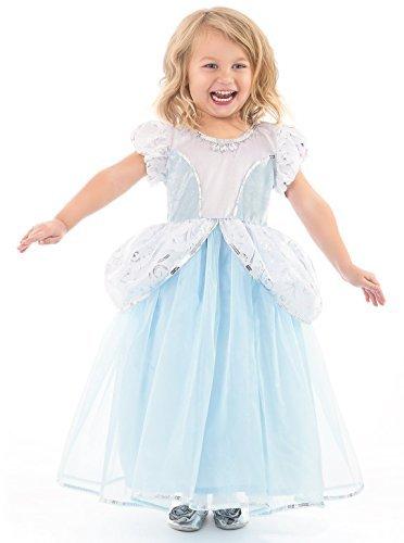 Little Adventures Deluxe Cinderella Kleid Kostüm für Mädchen - X-Groß (7-9 Jahre)