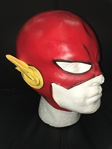 UK NEU FLASH COSPLAY LATEX OTENKOPF MÜTZE ERWACHSENE KOPF NEW KOSTÜM MASKE (Masken Flash)