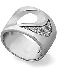 Jorge Revilla Plata Diamante Fancy Anillo - Rhodium Plated - Size Q 1/2