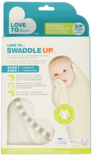 Love To Dream Swaddle UP -Organic- Cream- Small 6.5 - 13 lbs by Love to Dream