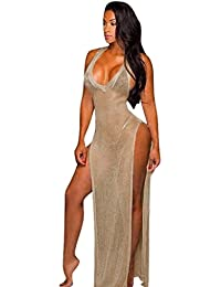 Mujeres vestidos transparente