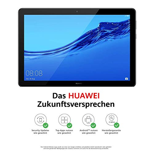 Huawei MediaPad T5 LTE Tablet-PC 25,6 cm (10,1 Zoll), Full HD, Kirin 659, 3 GB RAM, 32 GB interner Speicher, Android 8.0, EMUI 8.0, schwarz (Tablet-android-16 Gb)