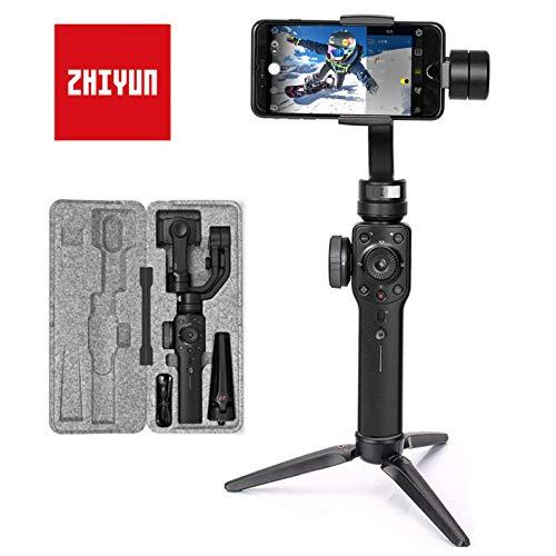 Zhiyun Smooth 4 Smartphone Gimbal Handy Stabilisator 3-Achsen Handheld Stabilizer bis zu 210g 6,5 Zoll für iPhone X XS max XR 8 7 6 Plus SE, Samsung S9+ S8+ 9 8 7 6 Edge Note, Huawei, GoPro 7/6/5/4