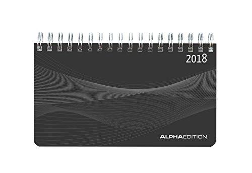 Agenda Planning settimanale nera 2018 15,6x9 cm