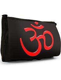 Faith Black Large Messenger School Bag