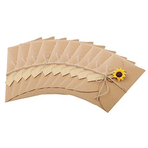 10pcs Grußkarte Geschenkkarte Danksagung Karte Geburtstag Hochzeit mit Blume - Sonnenblume , 4,1 x 4,2 Zoll