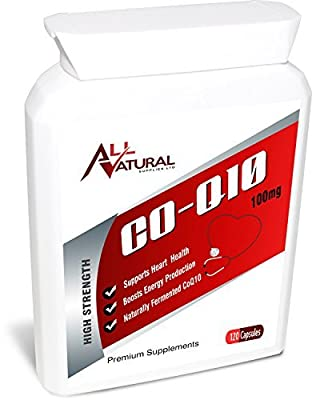 All Natural Co Enzyme Q10 120 100mg Softgel capsules All Natural COQ10 is created using a natural fermentation process | 4 month supply of Premium Quality CO Q10 | EXCELLENT VALUE comes with a MONEY BACK GUARANTEE | All Natural 100mg Co-enzyme Q10 is the