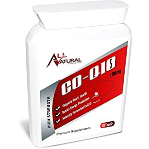 41sKK2lxIwL. SS300  - All Natural Co Enzyme Q10 120 100mg Softgel capsules | 4 month supply of Premium Quality CO Q 10.