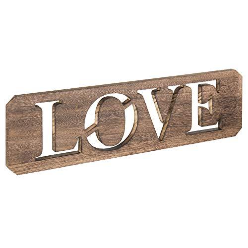 MyGift 24Rustikal Wandmontage Holz Schablone Love Sign (Schablonen Für Wand-plaques)