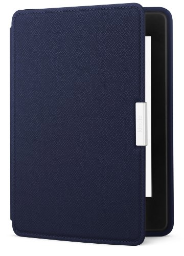 Amazon - Funda de cuero para Kindle Paperwhite, color azul tinta - com