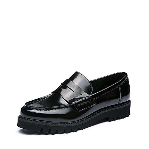 Ladies chaussures plates en cuir verni/ Roman cintrées style chaussures occasionnelles A