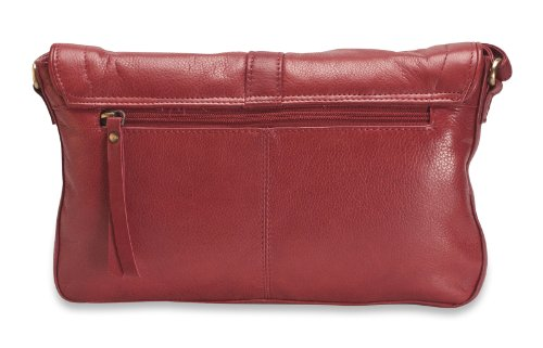 Brunhide Borsetta da donna design in vera pelle con fibbia # 115-300 Rosso