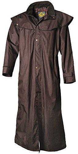 Scippis Stockman Coat Regenmantel für Cowboys Biker (Braun, XXL)