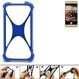 K-S-Trade Handyhülle Allview X3 Soul Plus Silikon Schutz Hülle Cover Case Bumper Silikoncase TPU Softcase Schutzhülle Smartphone Stoßschutz, blau (1x)