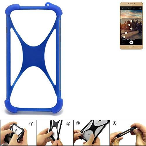 K-S-Trade Handyhülle für Allview X3 Soul Plus Silikon Schutz Hülle Cover Case Bumper Silikoncase TPU Softcase Schutzhülle Smartphone Stoßschutz, blau (1x)