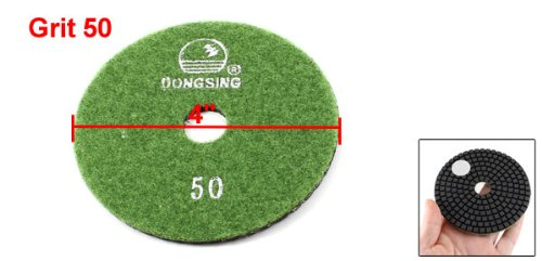 10cm Diameter 5mm Thickness 50 Grit Marble Diamond Polishing Pad Black Green