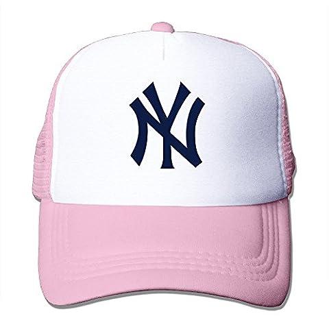 Sophie Warner réglable unisexe moitié en maille filet Logo New York NY Chapeaux Bouchons noir taille unique - Rose - Taille unique