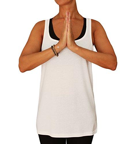 Natural born yogi débardeur de yoga pour femme Blanc - Blanc