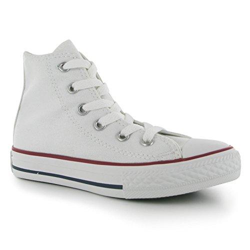 Converse Chuck Taylor All Star Season Hi - Scarpe da ginnastica, alla moda, da ragazza Bianco