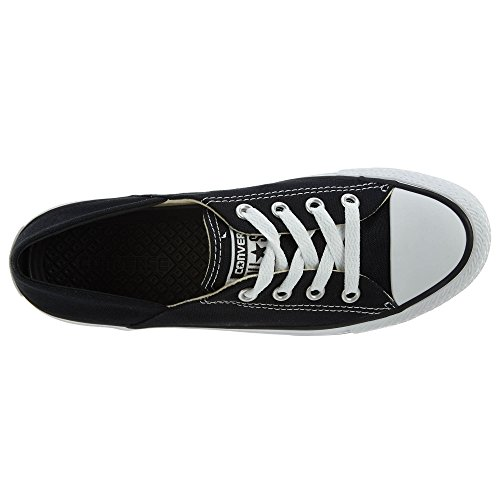 Converse Womens Chuck Taylor Coral Ox Canvas Trainers Black/White/Black