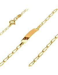 ORDOŠ Diamonds® 14K Goldarmband, Armband aus Gelbgold 585, Armkette,  längliche gerillte Augen, Damen Armband, Herren Armband,… aa3b6a873b
