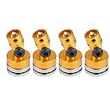 Dilwe Pilastro Magnetica di carrozzeria, Accessori in Alluminio per Modello Auto RC SCX10 4WD 1:10(Giallo)