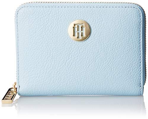 Blaue Damen Geldbörse (Tommy Hilfiger Damen Th Core Comp Za Wallet Geldbörse, Blau (Omphalodes), 2.5x10x13 cm)