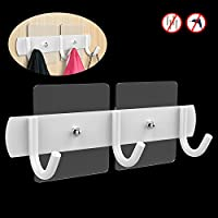Over the Door Hooks Stainless, Einfagood Coat Rack children with Magic Adhesive Pads, Adjustable According to Your Child