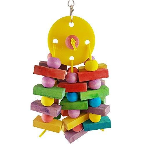 YYClub Vogelspielzeug Hängematte Leiter Holz Wellensittiche Spielzeug für Nymphensittiche, Sittiche, Aras, Papageien, Liebesvögel, Finken