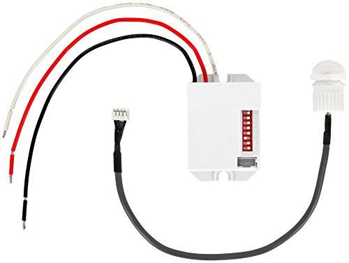 Unterputz Mini Einbau IR Bewegungsmelder 360° 12V - für LED geeignet - Mindestlast nur 1W (12-volt-motion)
