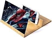 Phone Screen Magnifier 3D Stereoscopic Amplifying 12 Inch Desktop Video Amplifier Mobile Screen Wood Holder Mount Gift