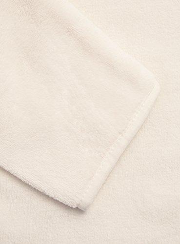 oodji Ultra Damen Bademantel mit Kapuze und Ohren Weiß (1200N)