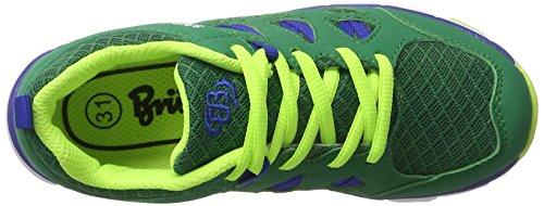 Bruetting Spiridon Fit, Scarpe da Ginnastica Basse Unisex – Bambini Verde (Gruen/blau/lemon)