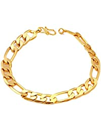 e0a0b5725d7 HARLLYCTION GOLD PLATED SACHIN BRACELET FOR MEN AND BOYS LOOKS VERY  STYLISH