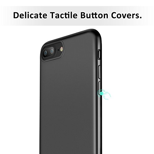 "iPhone 7 Plus Hülle, ESR Ultra-Slim Soft TPU Case Einfache stilvolle Vollschützend Matt schutzhülle für Apple iPhone 7 Plus 5,5 ""(Rosygold) Schwarz"