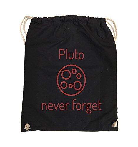 Rot Pink forget Farbe Turnbeutel Schwarz Pluto never Bags Schwarz Comedy 37x46cm wfPcq6vxH