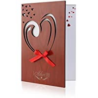 Amazon get well greeting cards unomor love card imitation wood greeting card for anniversariesbirthdays weddings and special m4hsunfo