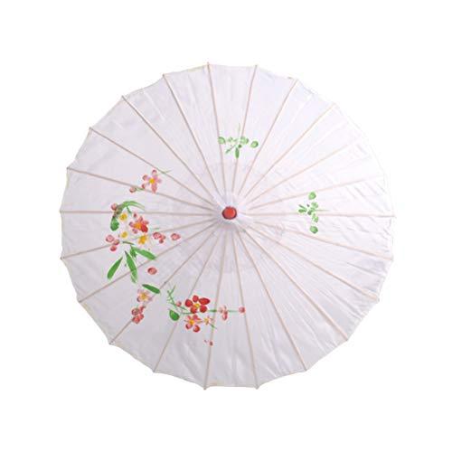 BESTOYARD Chinesischer Regenschirm Japanischer Sonnenschirm aus Bambus Holz für Hochzeit Braut Kinder Tanz Cosplay Sonnenschutz Schirm ()