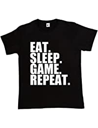 Fancy A Snuggle Eat. Sleep. Game. Repeat. Gamer Repeat Nerd Geek Mens T-Shirt