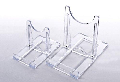 10 Tellerständer Tellerhalter  Acryl 40 x 70 mm Höhe 50 mm
