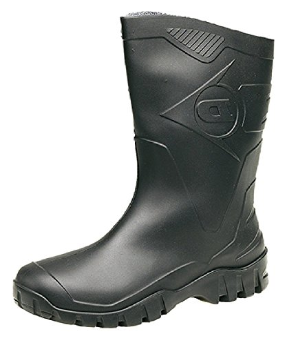 Dunlop Wide-Calf Half-Height Wellies. Sizes 4-12UK