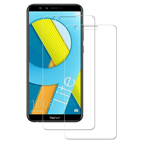 POOPHUNS 2 Stück Panzerglas Schutzfolie kompatibel mit Huawei Honor 9 Lite, Gehärtetes Glas Displayschutzfolie mit 9H Härte, HD Ultra Klar, Anti-Kratzen, Anti-Öl, Displayschutz Folie für Honor 9 Lite