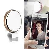 Haohao Mikro-USB-Runde Beauty Live-LED Fill-Licht Mit Spiegel,Gold -