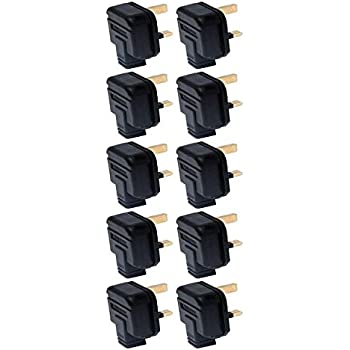 Permaplug Rubber Plugs 3-Pin 13A Black PACK OF 10