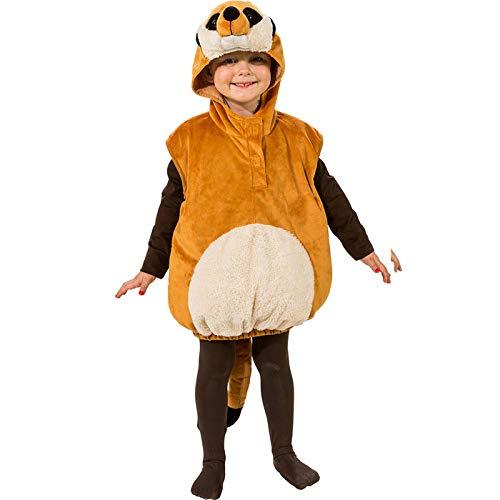 PARTY DISCOUNT® Kinder-Kostüm Erdmännchen mit Kapuze, Einh.gr.