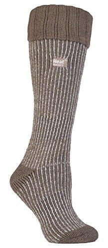 HEAT HOLDERS - Damen Wärme Winter thermo Gummistiefel socken stiefelsocken in 4 Farben 37-42 EUR (Kitz/Beige Stiefel) -
