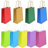 SunBeter Multicolore Paper Party Cadeaux Sacs poignées Kraft Sac en Papier Party Favors Bonbons Sac Le Mariage d'anniversaire Halloween Jour de Noël - 9 PCS (15 * 8 * 21cm)
